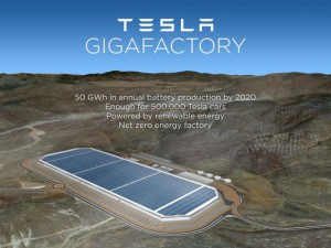 Tesla to build Battery Gigafactory in Nevada