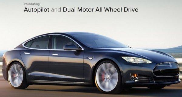 Tesla Model S P85D: Autopilot and Dual Motor All Wheel Drive (Image: Tesla)