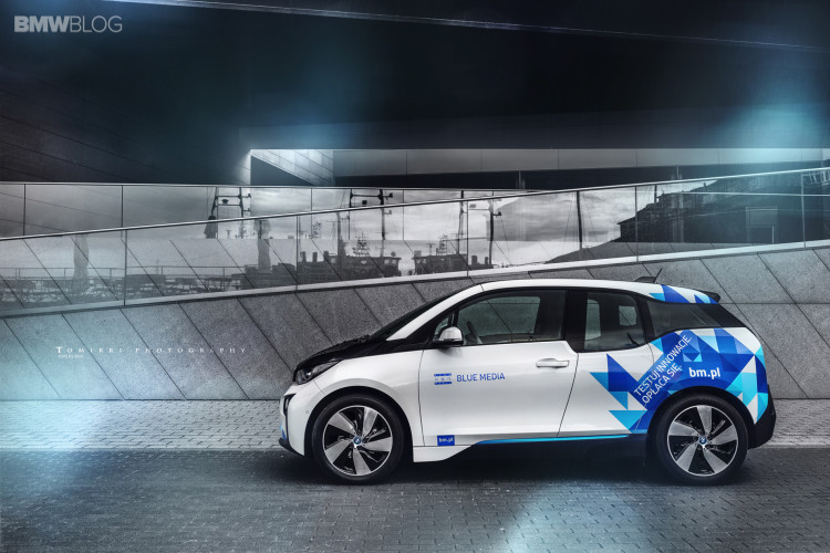 ING BMW i3 electric car (Image: ING)