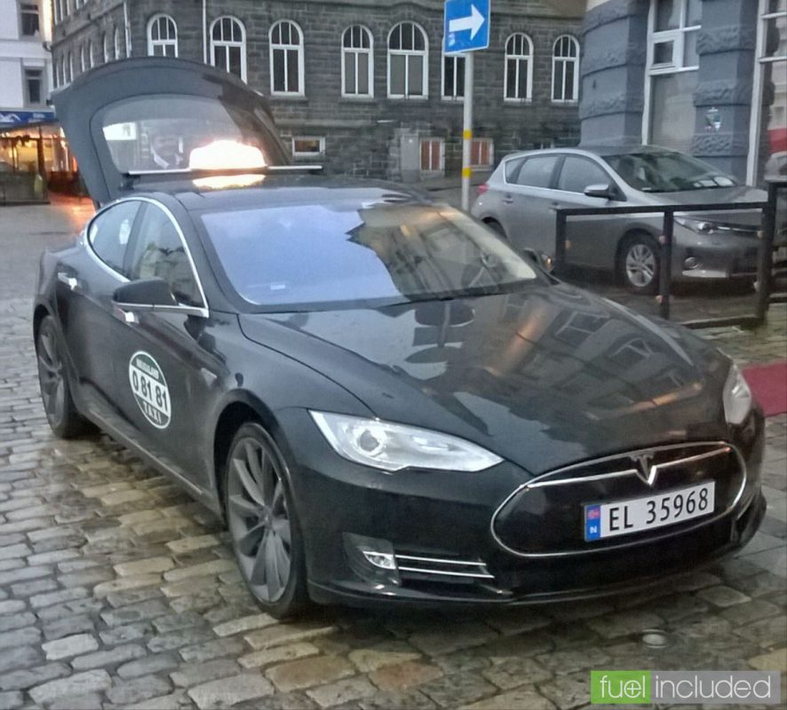 A Trip by Tesla Taxi in Norway