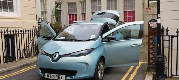 Packing up the ZOE in Brighton ready to go home (Image: T. Larkum)