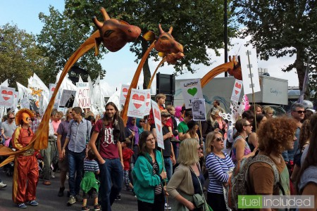 London Climate March - a carnival atmosphere (Image: T. Larkum)
