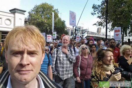 London Climate March - a quick selfie near Embankment (Image: T. Larkum)