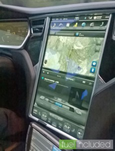 Close-up of Tesla Touchscreen