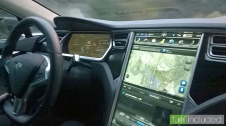 "Tesla Model S Taxi: 17"" Touchscreen"
