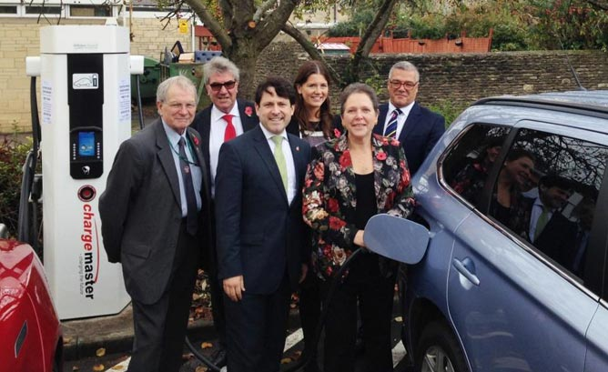 Triple Standard RAPID EV Charger For Wiltshire