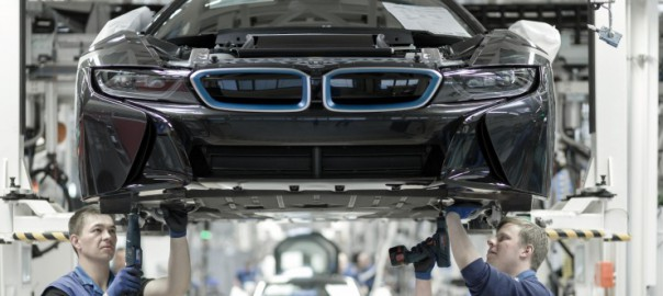 BWM i8 in production (Image: BMW)