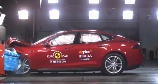 Tesla Model S Euro NCAP Crash Test