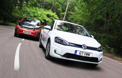 BMW i3 Goes Head-to-Head with VW e-Golf (Image: AutoExpress)