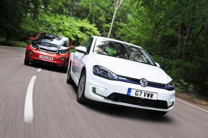 BMW i3 Goes Head-to-Head with VW e-Golf (Image: AutoExpress)