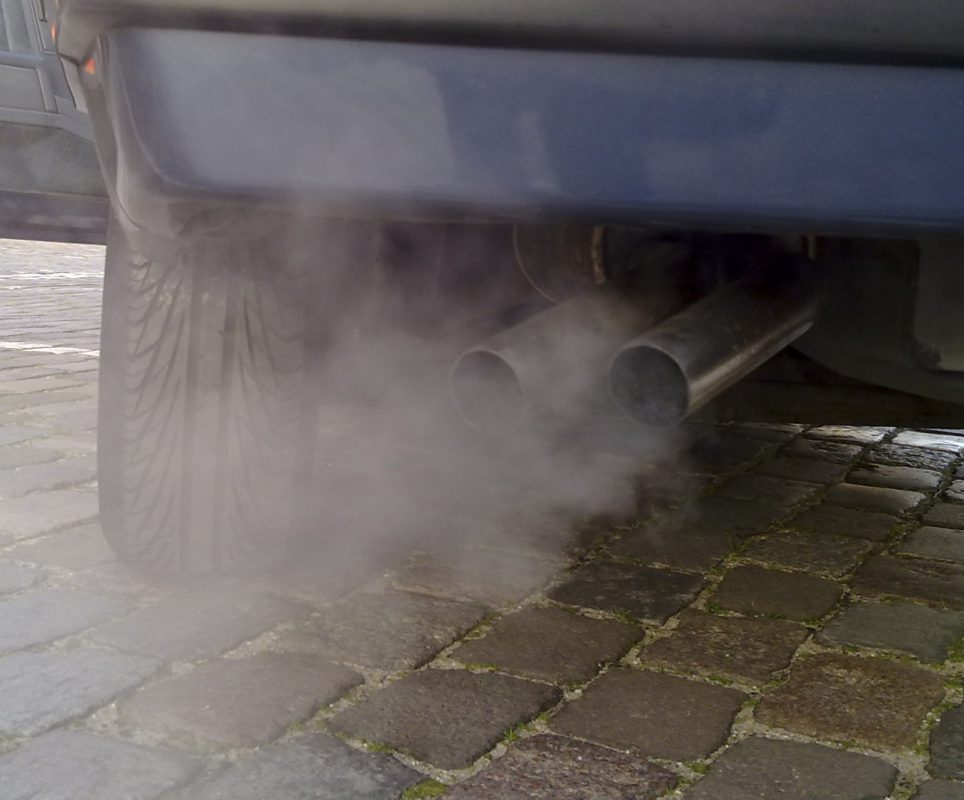 Car exhaust pollution (Image: Wikipedia)
