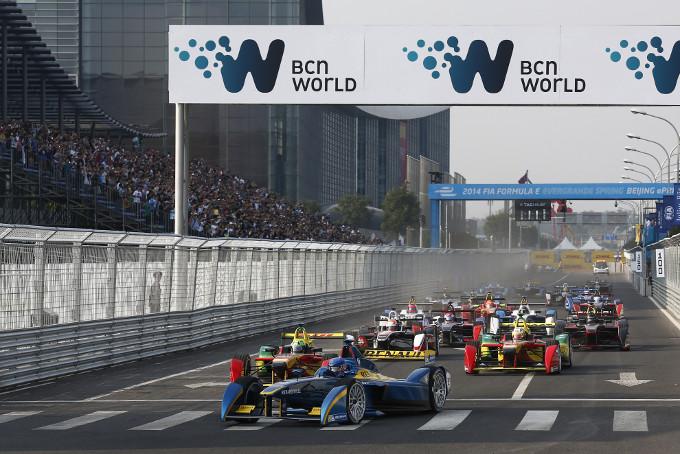 Formula E Racing in Beijing (Image: FIA Formula E)