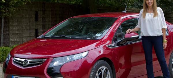 Carol Vorderman trials Vauxhall Ampera (Image: Vauxhall)