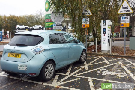 ZOE rapid charging at Chieveley Services (Image: T. Larkum)