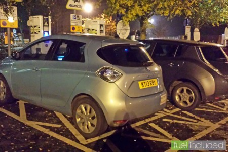 Sharing Chieveley with a Nissan Leaf (Image: T. Larkum)