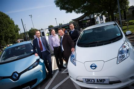 Launch of Rapid Charge Network (Image: Renault)