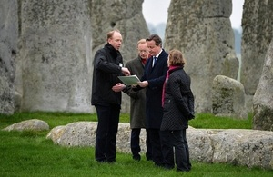 PM at Stonehenge (Image: Gov.uk)