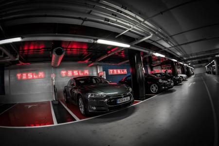 Tesla Supercharging Station at Westfield, London (Image: Tesla)