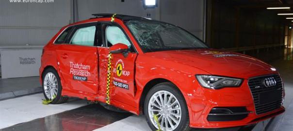 Audi A3 e-tron crash testing (Image: Euro NCAP)