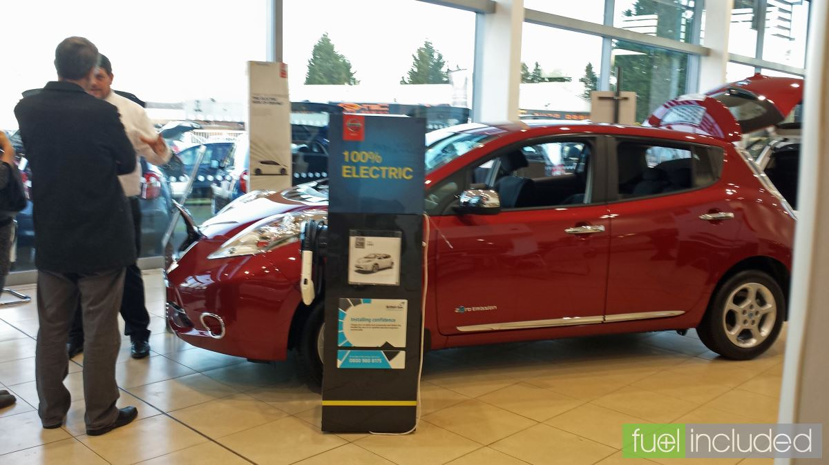 A showroom tour of a Nissan Leaf (Image: T. Larkum)
