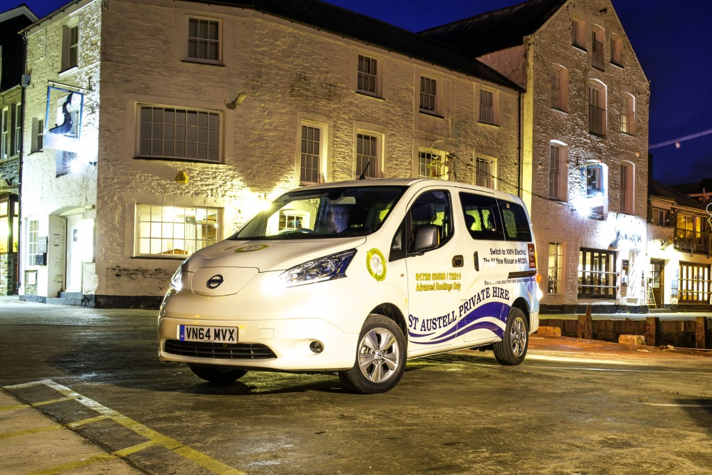 C&C's Nissan e-NV200 Electric Taxi (Image: Nissan)