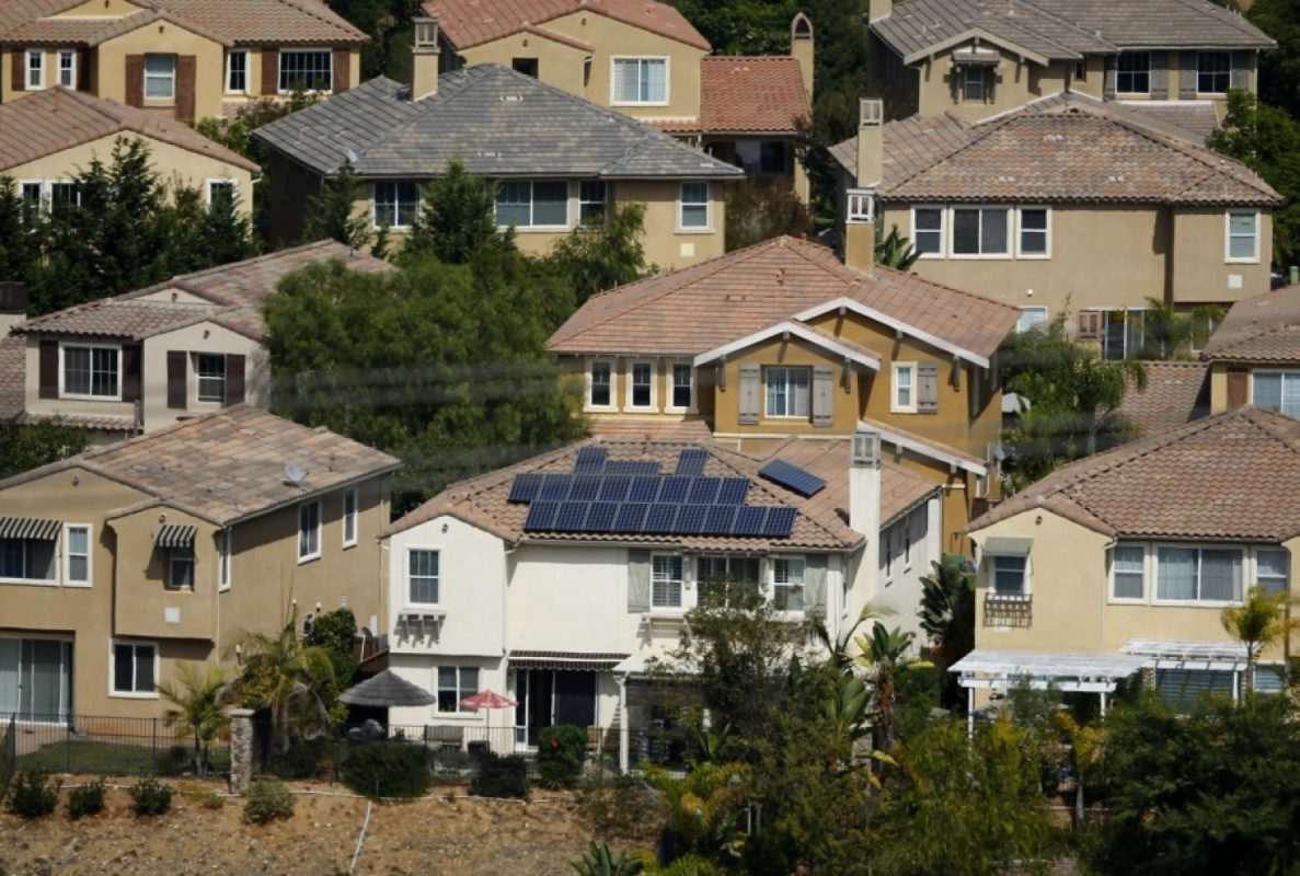 A home with solar panels on its roof is shown in a residential neighborhood in San Marcos, California (Image: M. Blake/Reuters)