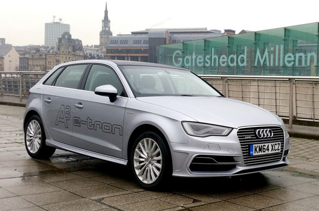 Audi A3 e-tron plug-in hybrid (Image: The Register)