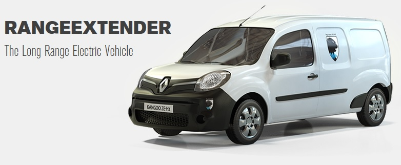 Renault Kangoo Z.E. with Symbio FCell's hydrogen fuel cell range-extender