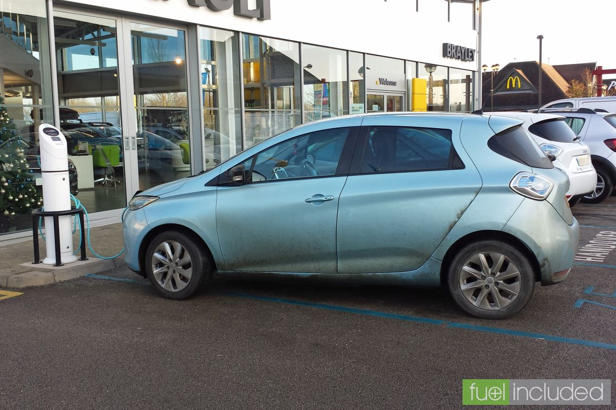 Catching a quick charge at the local Renault dealer (Image: T. Larkum)