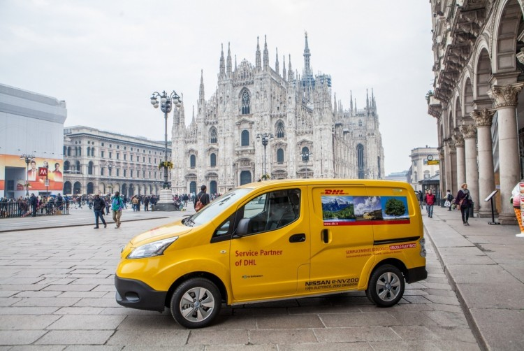 DHL Express Put 50 Nissan e-NV200 To Work In Milan And Rome