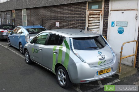 Borrowing a slow charge in a council car park (Image: T. Larkum)