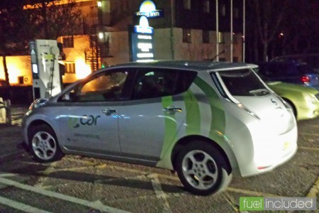 Grabbing a quick charge at South Mimms late in the evening (Image: T. Larkum)