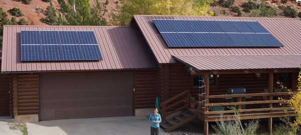 The Copelands' home solar project (Photo: Creative Energies)