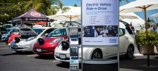 Electric cars on the SDG&E territory