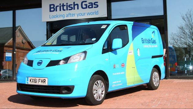 British Gas has a fleet of 100 e-NV200s