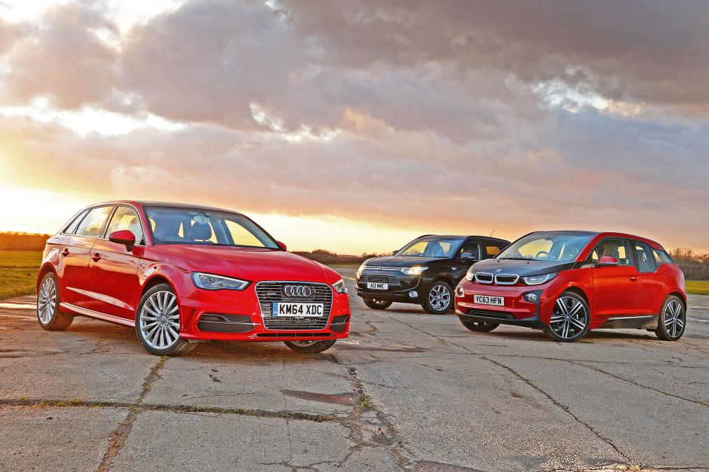 Audi A3 e-tron, Mitsubishi Outlander and BMW i3 plug-ins