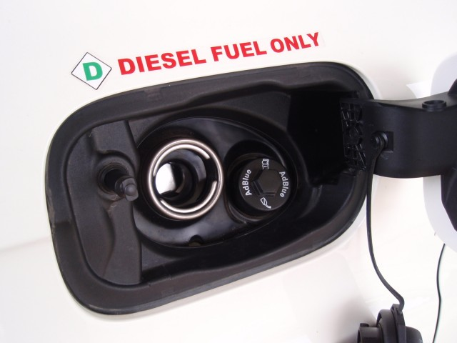 'Diesel fuel only' caution on Audi Q7 TDI (Image: GCR)