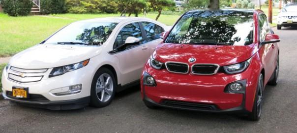 2014 BMW i3 REx vs Chevrolet Volt comparison (Image: D Noland/T Moloughney)