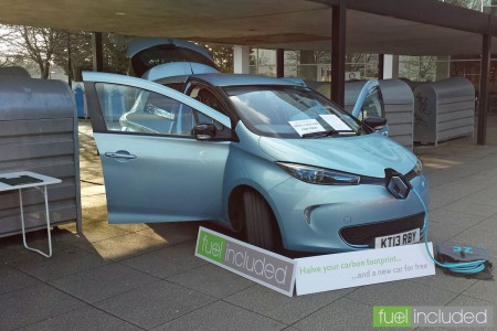 Fuel Included 'pop-up shop' outside Milton Keynes Central railway station (Image: T. Larkum)