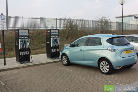 Rapid Chargers next to Milton Keynes Central railway station parking (Image: T. Larkum)
