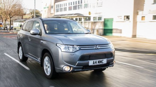 Britain's best-selling plug-in electric car has sold 10,000 vehicles in the last year: Mitsubishi Outlander PHEV