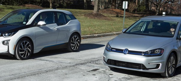 BMW i3 and Volkswagen e-Golf