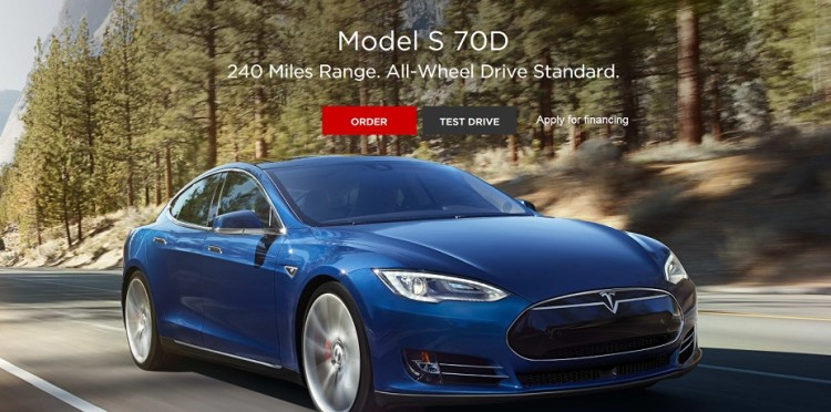 Tesla Introduces The New Base Model S – 70D (Image: Tesla)