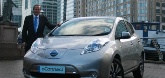 Nissan Leaf taxi (Image: eConnect)