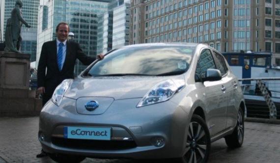 Nissan Leaf taxi (Image: eConnect)
