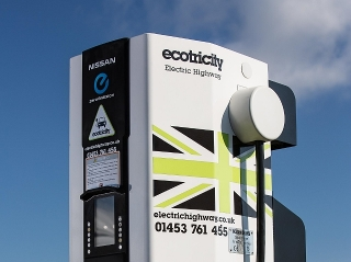 The Electric Highway offers an 80% charge in half an hour for compatible vehicles
