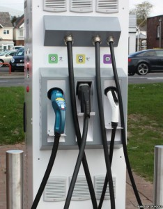 The rapid charger with three standard charging points draws its power from solar panels (Image: Borough of Poole)