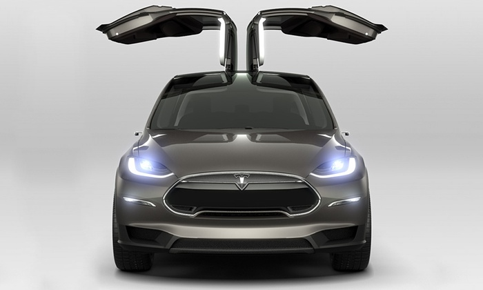 The Tesla Model X is the electric car company's third car, designed to appeal to the SUV-crossover market (Image: Tesla Motors)