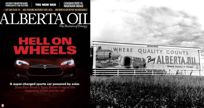 Tesla on industry magazine - end for oil? (Image: Wikipedia)
