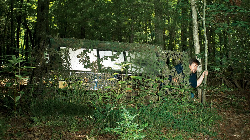 Bring it! Scott Hunt on his prepper property in South Carolina (Image: B. Finke)